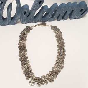 Unique Pewter Statement Necklace
